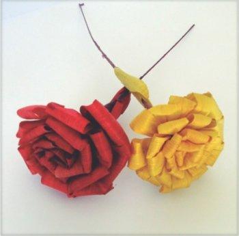 Flor de Palha c/ Aprox 12cm de Diametro tipo margarida unid