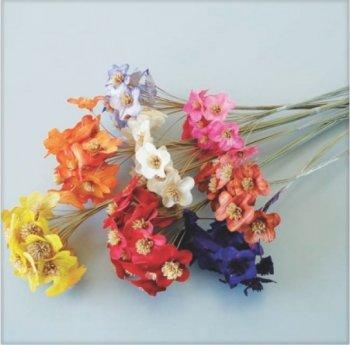 Mini flor de Palha no Espeta Nariz Decor mç com 10 flores
