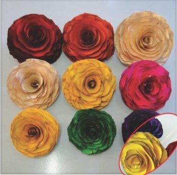 Flor De Madeira para Decoração 8cm Diametro (unidade)